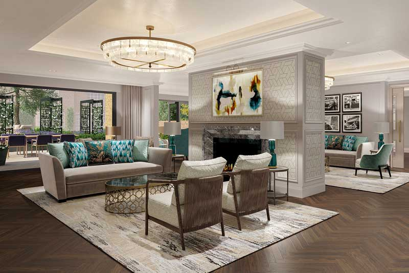 Mulberry Court interior, stunning shared spaces designed with understated luxury